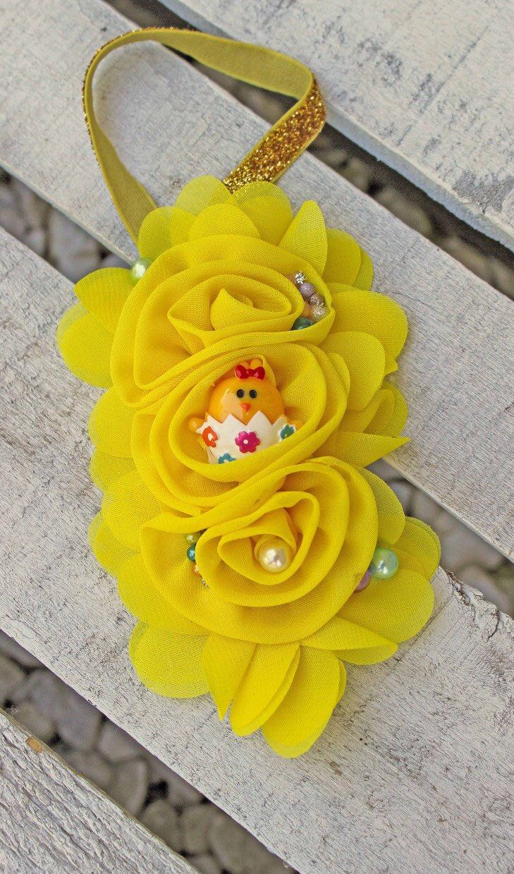 Yellow Chiffon Flower Headband, Newborn, Infant, Baby, Baby Girl, Toddler and Adult Easter Headband, Fabric Flower Headband , Photo Prop by SundayChildBoutique on Etsy https://www.etsy.com/listing/522682979/yellow-chiffon-flower-headband-newborn