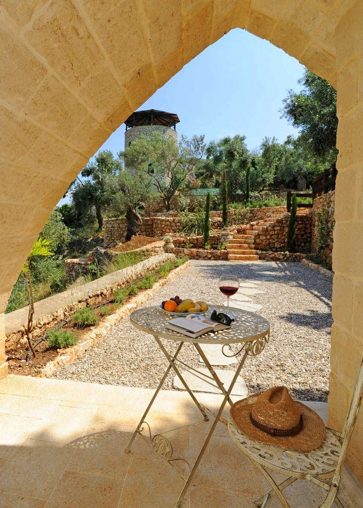 Terrace from lower bedroom in Corfu villa