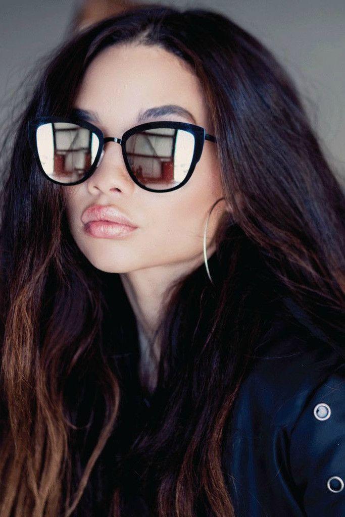 Quay Australia - Super Girl Black Silver Designer Sunglasses