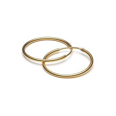 Øreringe ringe 20 mm guld