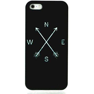 EUR € 1.83 - zwarte kompas patroon harde koffer voor iPhone4 / 4s, Gratis Verzending voor alle Gadgets!