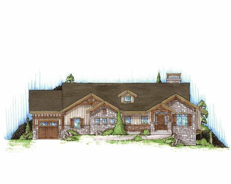 1000 images about house design on pinterest french for Craftsman rambler house plans