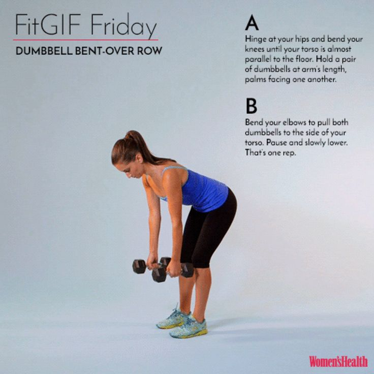 fitgif dumbbell bent over row