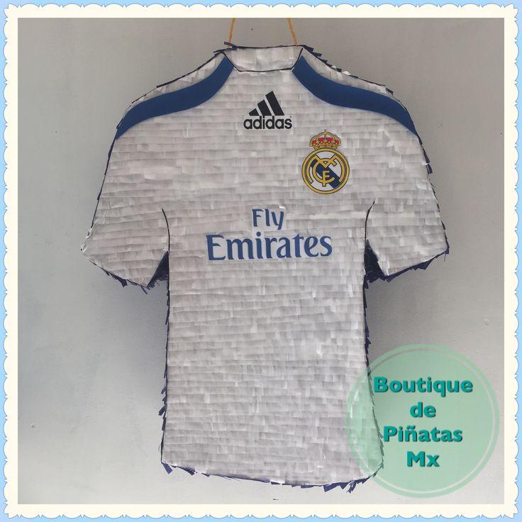 Jersey Real Madrid • Piñata • $580 | 2 días para hacerla + 5-6 días hábiles de envío a todo México |