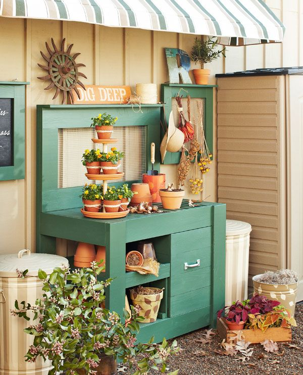 10 Potting Bench Ideas With Free Building Plans Tuesday Ten Gardens My Like And Plants