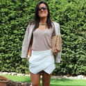 Falda.Pantalón  , Zara in Blazers, Zara in T Shirts, Zara in Skirts, Asos in Clutches, Uterqüe in Ankle Boots / Booties