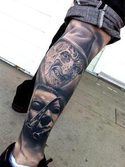 Realism Horror Tattoo by Nikko Hurtado - http://worldtattoosgallery.com/realism-horror-tattoo-by-nikko-hurtado-5/