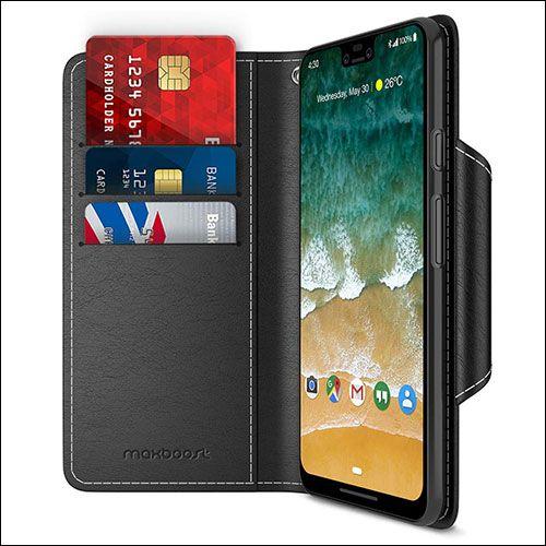 on sale c03a8 e462e Best Google Pixel 3 XL Wallet Cases : Folio Style Wallet Cover for ...