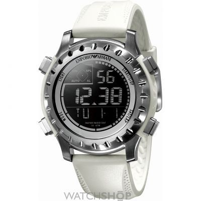 Mens Emporio Armani Alarm Chronograph Watch AR5853