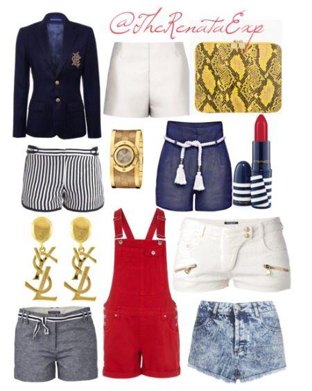 "#StyleMeApril #Day3 ""Oh Hello Sailor"" #Jacket $950 @Ralph Lauren ""Navy Deerskin Greenwich Jacket  #WhiteShorts $650 @Maison Valentino #iPadCase $575 @Stella McCartney ""Yellow & Black Snakeskin iPad Case"" #StripedShorts $305 @DVF ""Tiffany Print Shorts""  #Watch $1050 @gucci  #Shorts $195 @Candela NYC  #Lipstick $16 @M∙A∙C Cosmetics ""Hey Sailor"" #Earrings $1998 Yves Saint Laurent  #Overalls $20 (Sale) @River Island  #Shorts $951 @Balmain France  #BeltedShorts $140 @Tommy Hilfiger  #AcidWash $56…"