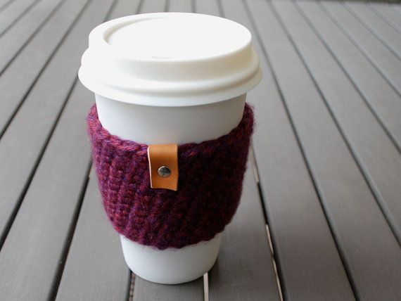 Coffee Cup Sleeve Color: Isle Royale Burgundy Purple Style: Regular _________   Your coffee cup never looked so good!  These covers slide over