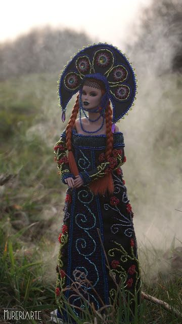 My vison of Slavic goddess - Marzanna. Model - Vanessa Perrin Aerodynamic, Integrity Toys.