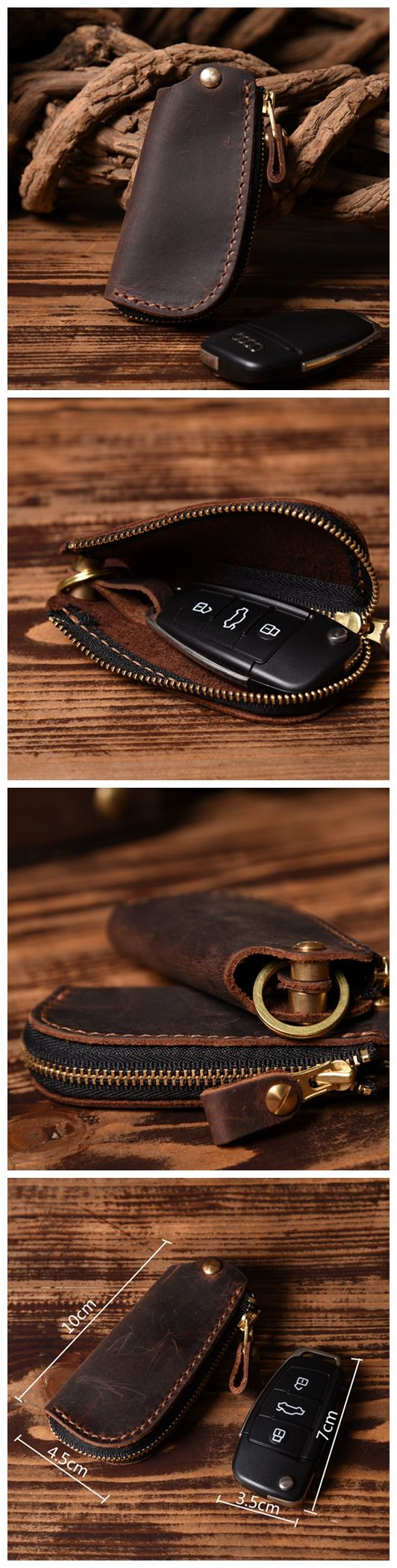 Handmade Genuine Leather Car Key Holder Leather Key Organizer Leather Key Chain Leather Case 14128