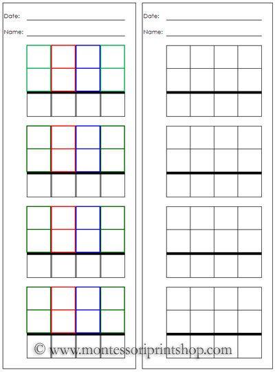 Number Names Worksheets montessori free printable materials : 1000+ ideas about Montessori Materials on Pinterest | Montessori ...