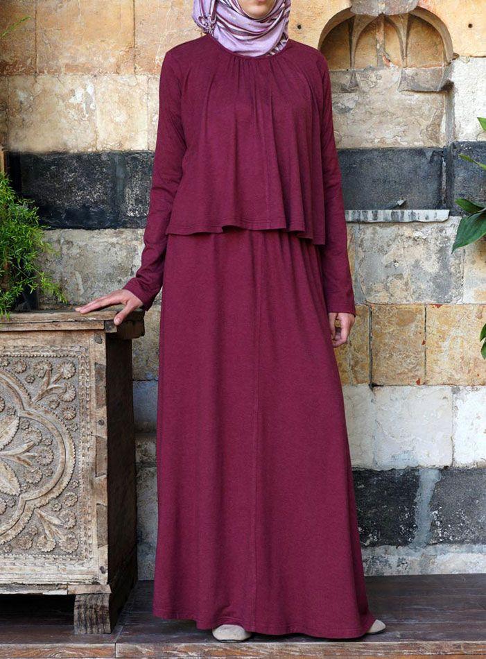 SHUKR USA   Asma Double Layered Dress