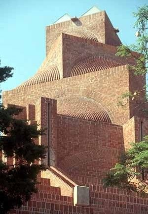 Carlos Mijares Bracho. The Christ Church, in Lomas de Chapultepec México, is one of the emblematic works of Mijares in exposed brick: