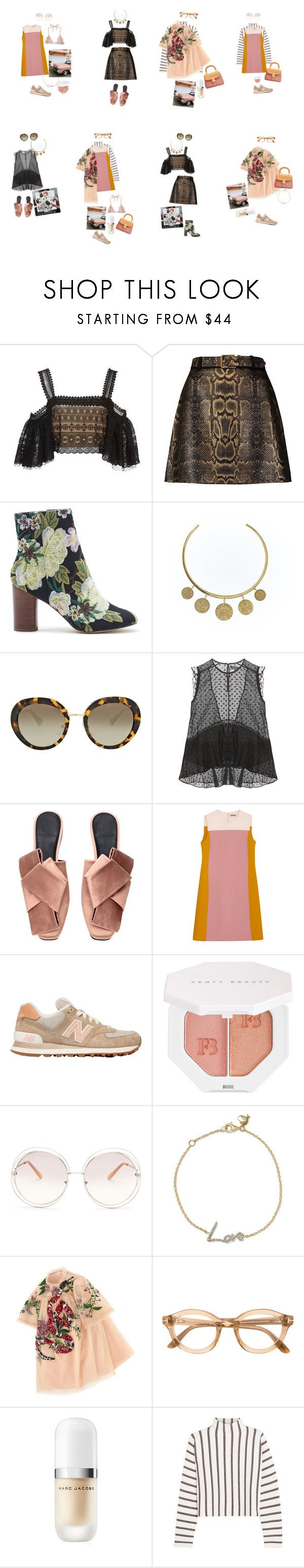 """Untitled #2825"" by duumbblond ❤ liked on Polyvore featuring Costarellos, Roberto Cavalli, Sole Society, Pembe Club, Prada, Isabel Marant, H&M, Bottega Veneta, New Balance and Puma"