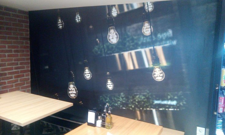 Kafe ve Restoran Dekorasyonu - Cafe Duvar Kağıdı - İç Mimari - Kafe  İç Mimarisi - Yemek Masası Dekorasyonu - 3D Duvar Kağıdı - Duvargiydir.com