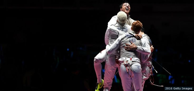 The Best Photos From Rio 2016: Aug. 12 Edition U.S. Men's Foil Fencing Team