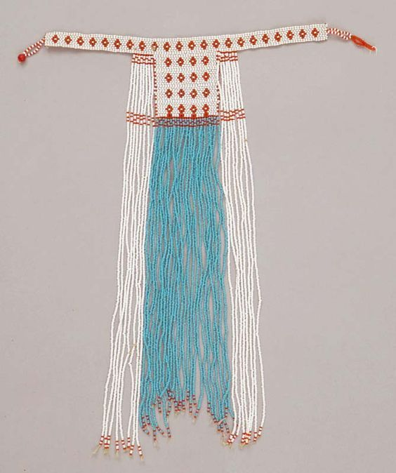 Africa | Necklace from the Xhosa (Mpondo?) people of South Africa | ca. early 21st century | Plant fiber and glass beads:
