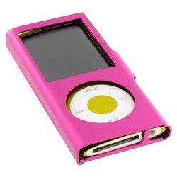 Coque métal iPod Nano 4 rose sur http://www.etui-iphone.com/ rubirque #ipod #nano