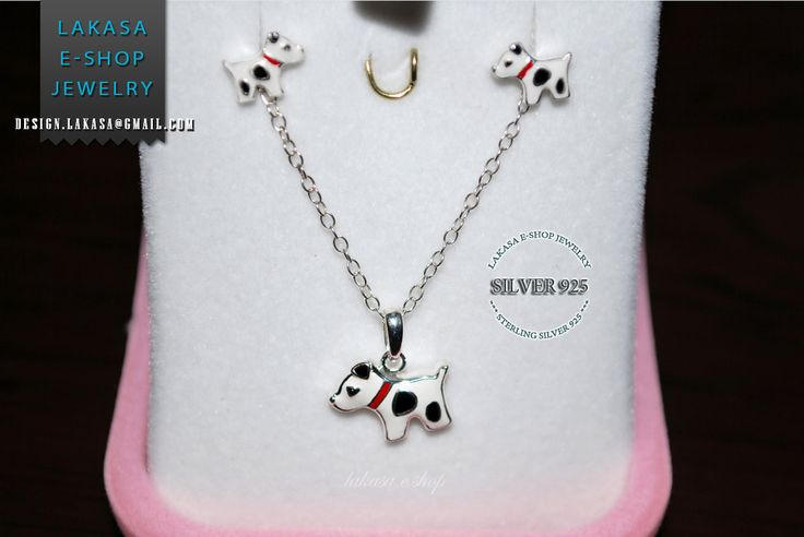 Jewelry Set Enamel cute Dogs Necklace Earrings Sterling Silver Jewelry Best Gift Ideas Birthday Party School Girl Moda funny Kids Collection #set #earrings #necklace #jewelry #joyas #kids #collection #children #school #moda #silver #jewellery #bestideasgifts #birthdaygifts #birthday #παιδι #κοριτσι #παιδικο #κοσμημα #setkids #freeShipping