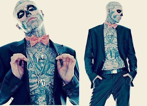 Even the man with the most tattoos out there has some class. Pull up your pants, Swagfags.