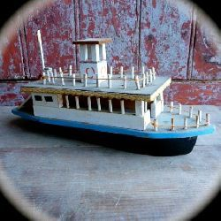 wood toy steamboat