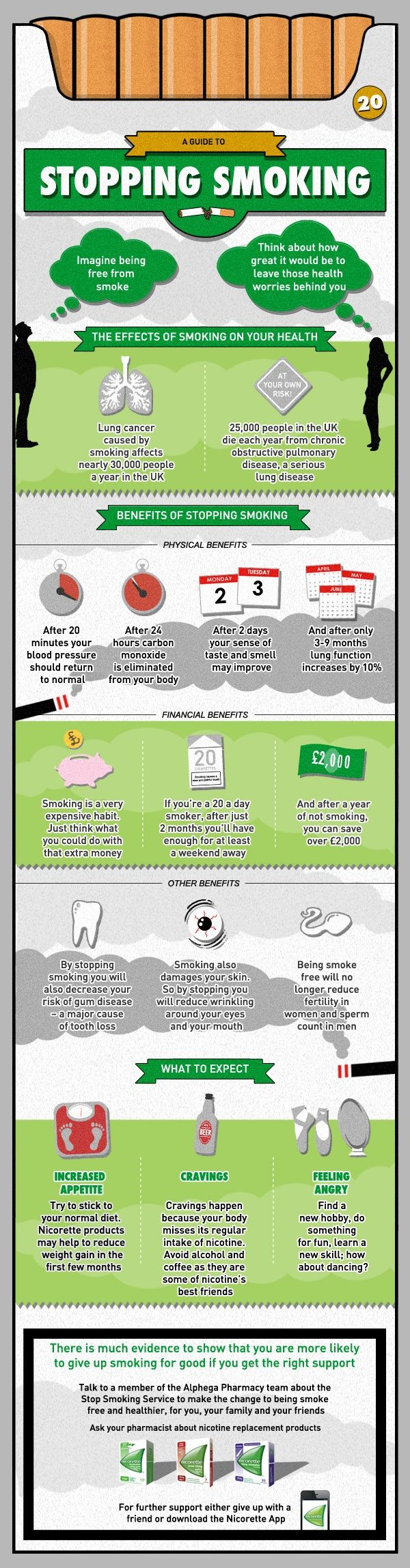 1000 images about quit monday infographics health a guide to stopping smoking infographic