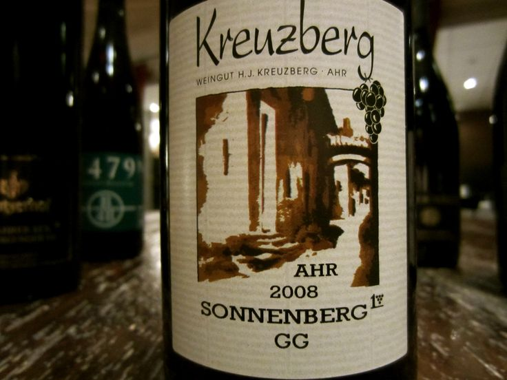 Another Top Quality Pinot Noir from Kreuzberg H. J. the Sonnenberg GG Pinot Noir, Ahr, Germany.