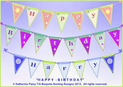 Happy Birthday bunting - choice of lettering and designs