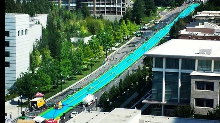 Slide The City Coming To Oklahoma City • ChatterBlock • The massive 1,000 foot slip-and-slide is said to be coming to the streets of Oklahoma City! ➡REPIN!⬅