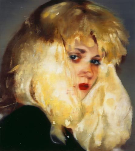 Johannes Kahrs  Girl with yellow wig, 2005  Oil on canvas  24.8 x 22 inches