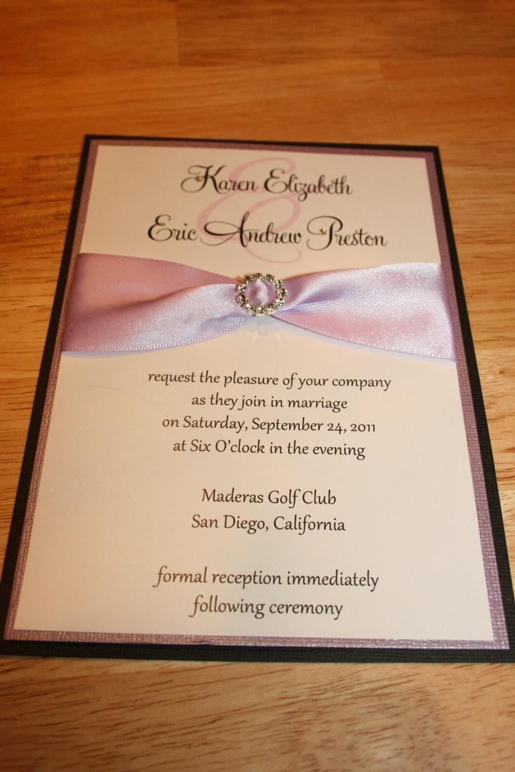 66 best wedding invitations images on Pinterest | Wedding ...
