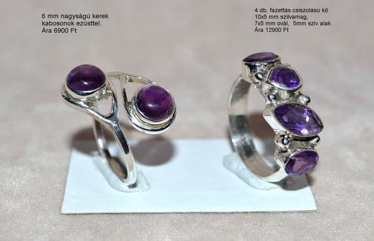 Ametiszt gyűrűk