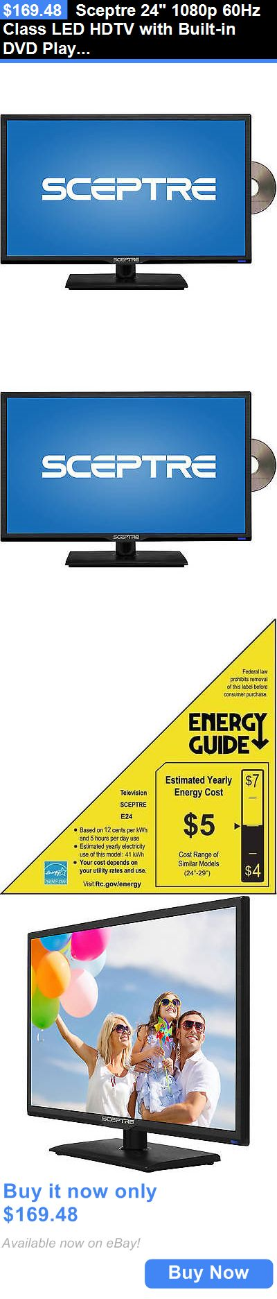 Televisions: Sceptre 24 1080P 60Hz Class Led Hdtv With Built-In Dvd Player Slim Flat Screen BUY IT NOW ONLY: $169.48