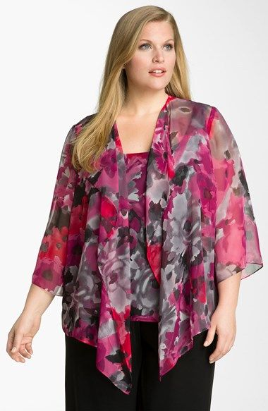 Alex Evenings Floral Print Twinset (Plus) available at #Nordstrom