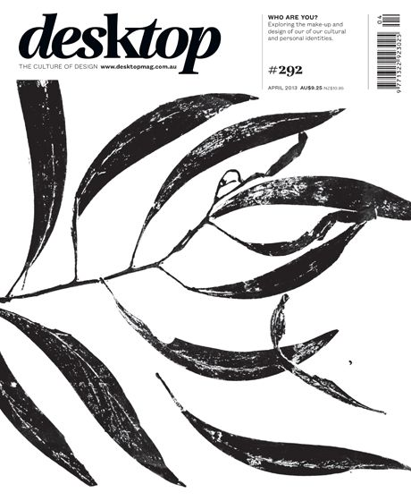The April 2013 issue of desktop - cover designed by Jenny Grigg