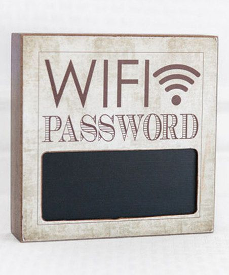 Adams & Co. Sepia 6 WiFi Password Chalkboard Block Sign | zulily