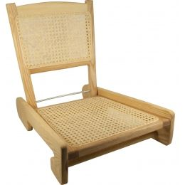 Harmony Folding Cane Canoe Chair