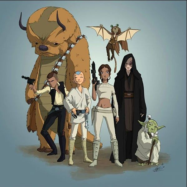The Funniest Star Wars Fan Art In The Galaxy Avatar The Last Airbender Art Star Wars Fan Art Avatar Aang