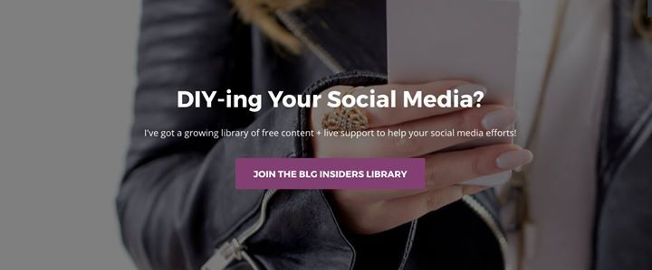 I've got a growing library of free content  live support to help your social media efforts:    guides & checklists  video vault  private Facebook Group  Join Today: http://bit.ly/BLGInsiders