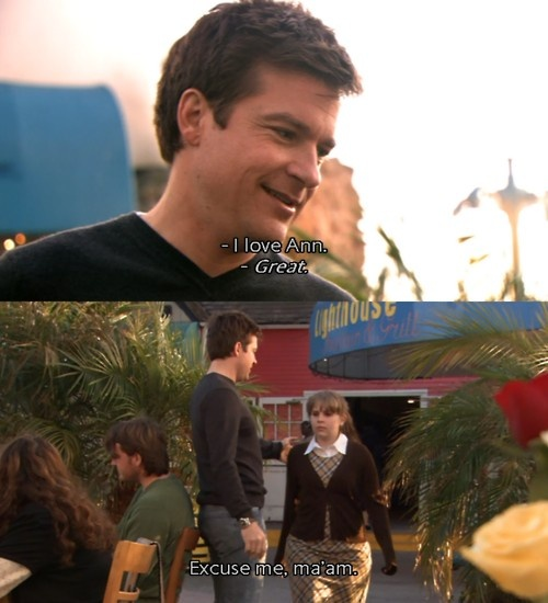 I just love how he always forgets who she is. Arrested development!