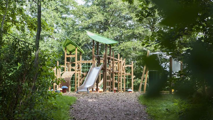 The beautiful playground of Raseborg gives wings for your imagination. In the park there are several elements, which can also be found in nature environment, like mushrooms and animals. The designing of the park is natural and it makes children feel that they are in the middle of a forest.