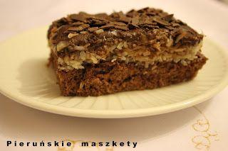 Pieruńskie maszkety - blog kulinarny: Ciasto Bounty - z kokosem w roli głównej