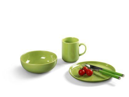 Grasgrünes Steingut Geschirr Happymix Limette Frühstücks-Set von Friesland Porzellan