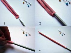 Trucos de costura: dar la vuelta a un tubo cosido