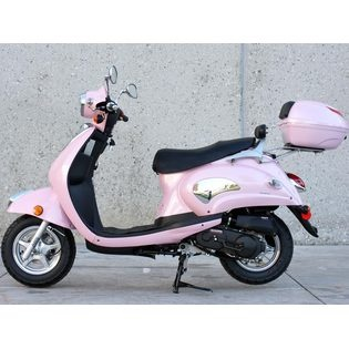 Pink Vespa 150cc Moped Scooter