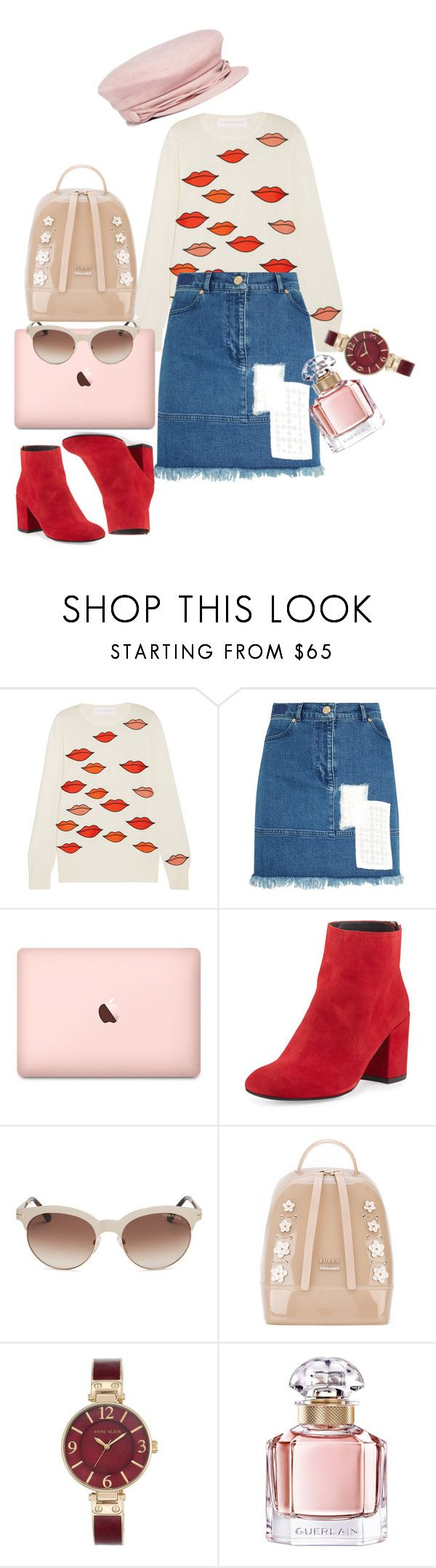 """""""Baby"""" by loviette ❤ liked on Polyvore featuring Victoria, Victoria Beckham, House of Holland, Stuart Weitzman, Tom Ford, Furla, Anne Klein, Guerlain and Maison Michel"""