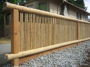JARDINS MARAVILHOSOS....: Cercas de bambu...                              …                                                                                                                                                     Mais
